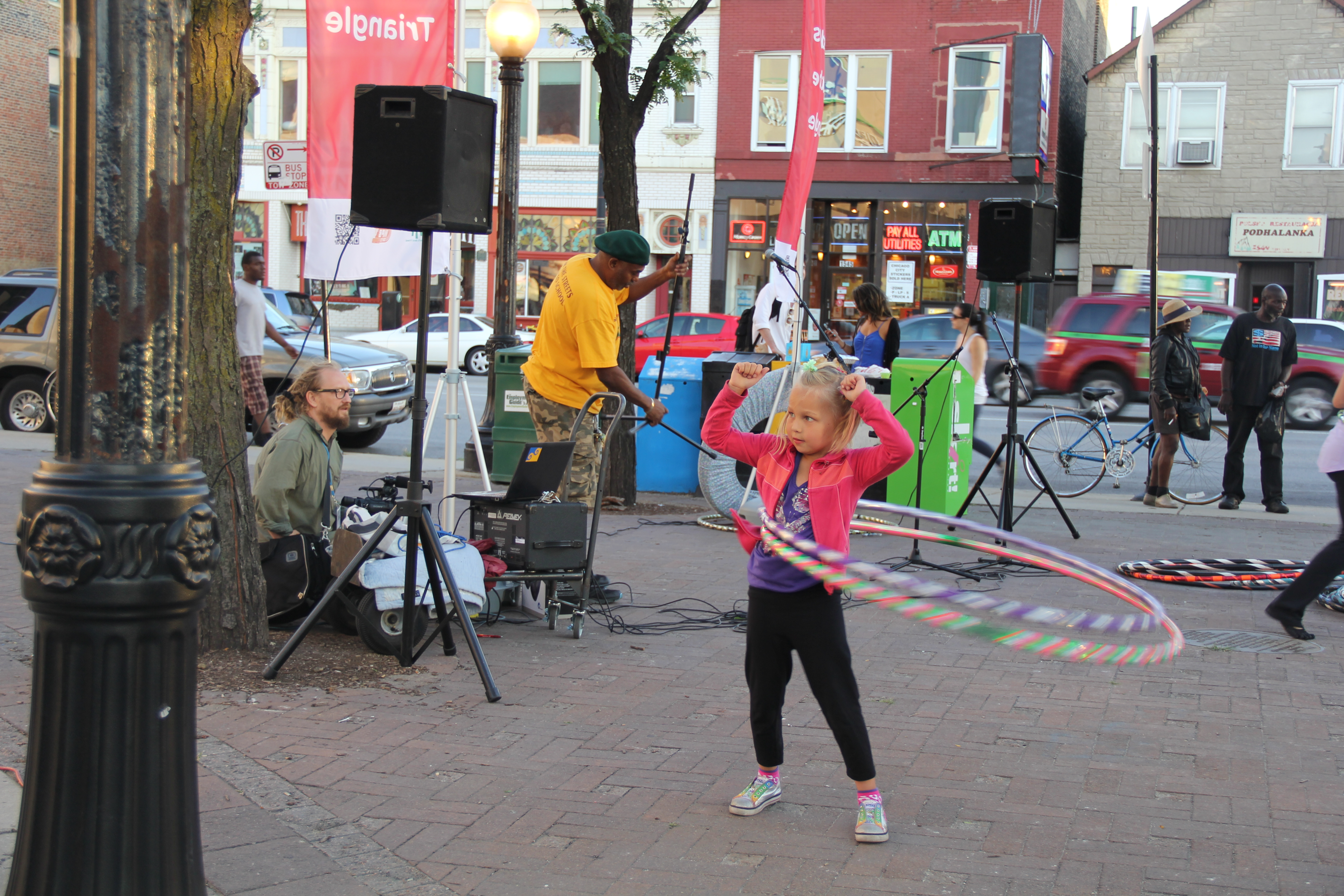 Hoola hoop at Tuesdays at the Triangle